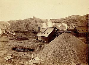 Homestake works mine 1889