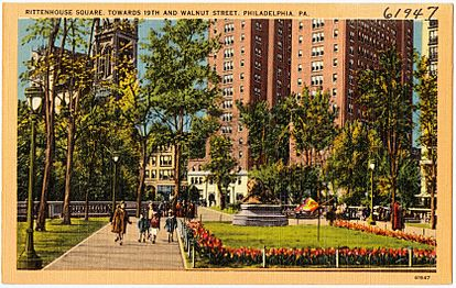 Rittenhouse Square, towards 19th and Walnut Street, Philadelphia, PA (61947)