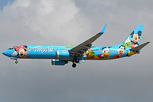 Alaska Airlines 737-900 with Disneyworld livery