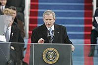 Bush delivers his second Inaugural address