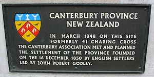 Canterbury province plaque Whitehall London