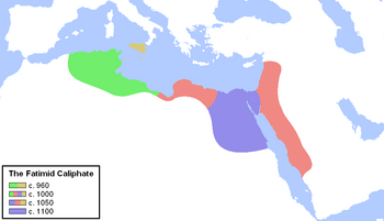 Chronological map of the Fatimid Caliphate