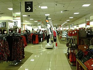 Inside a JCPenney store, Springfield town center