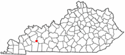 Location of White Plains, Kentucky