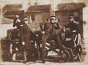 Royal Artillery at Leith Fort, 1846