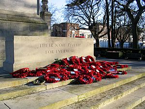 Southampton Cenotaph with Flowers
