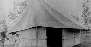 StateLibQld 2 196139 Biddeston State School tent, Queensland, 1919