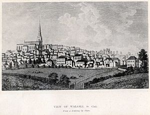 View of Walsall in 1795