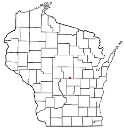 Location of Almond, Wisconsin