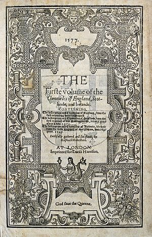 1577 printing of Holinshed's Chronicles