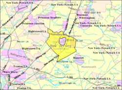Census Bureau map of East Windsor Township, New Jersey