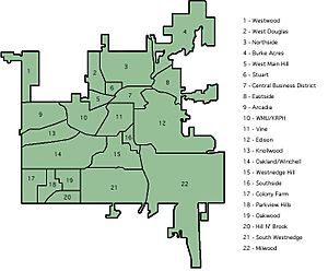 Kalamazoo Neighborhoods Numbered