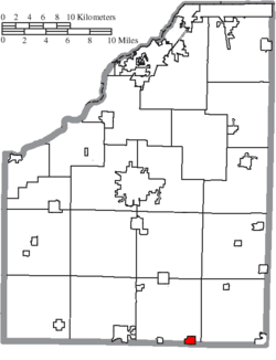 Location of Bloomdale in Wood County