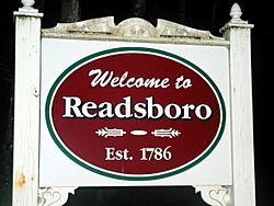 Sign outside Readsboro