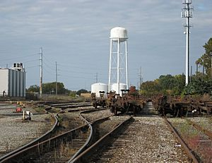 Saginaw Yard on Lansing Manufacturers Railroad
