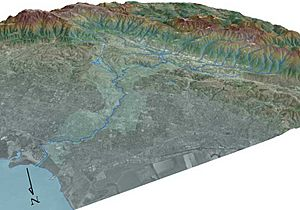 San Francisquito Watershed Satellite Map USGS