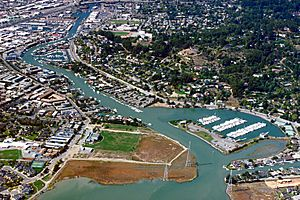 San Rafael California Canal Area aerial view