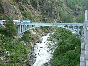 The Friendship Bridge connecting China with Nepal.jpg