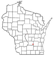 Location of Columbus in the state of Wisconsin