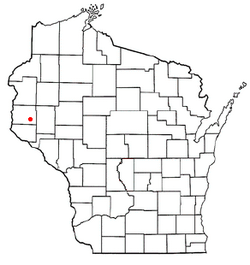 Location of Woodville, Wisconsin