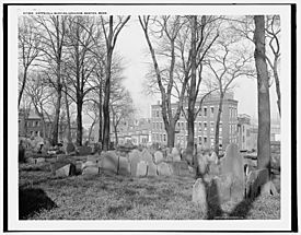 Copp's Hill Burying Grounds Boston Detroit Publishing