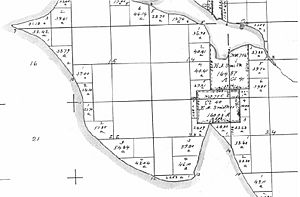GLO map of Interbay and Magnolia claims - 1863