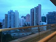 HKU campus evening view Sai Ying Pun Nov-2012.jpg