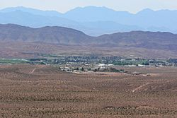 Logandale Nevada from Mormon Mesa 1