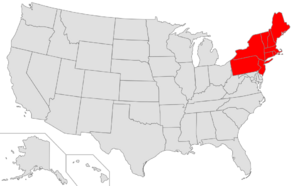Map of USA highlighting Northeast.png