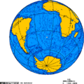 Orthographic projection over Gough Island