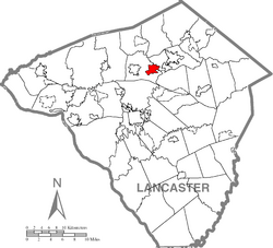 Rothsville, Lancaster County Highlighted.png