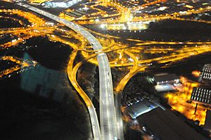 West Midlands Police Helicopter - Night Time Photos - Gravelly Hill Interchange