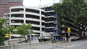 Wickham Terrace Carpark (as seen from intersection of Wickham Terrace and Creek Street), 2015 - wide.JPG