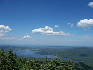 Chazy Lake - View from the Top of Lyon Mountain