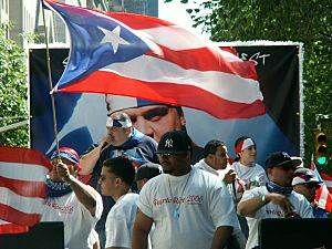 Frankie Cutlass at the Puerto Rican Day Parade 2006