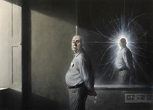 Ken Currie, Portrait of Peter Higgs, 2008