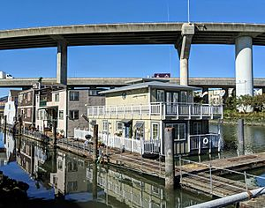 Mission Creek houseboats and ramps
