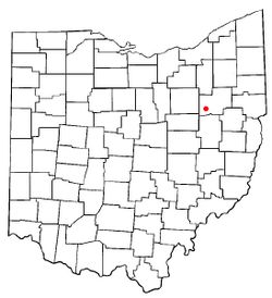 Location of Navarre, Ohio