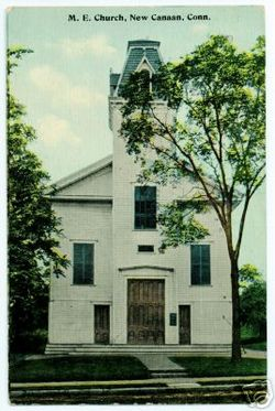 PostcardNewCanaanCTMethodistEpiscopalChurch
