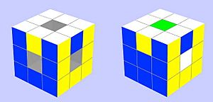 Rubik's cube vs void cube odd parity swap
