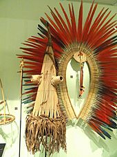 Anteater mask and scratcher used by boys in the Koko ceremony, Kayapo culture, Brazil, c. 1970 - Royal Ontario Museum - DSC09551