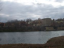 View of Brownsville from across the Monongahela River