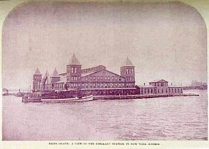 Ellis Island First Bldg Burnt 15-June-1897