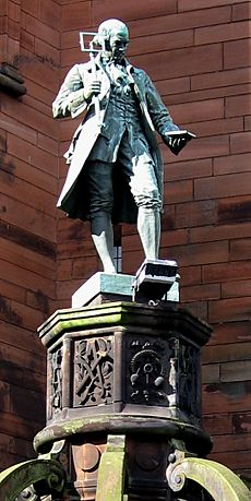 James Watt Memorial College statue