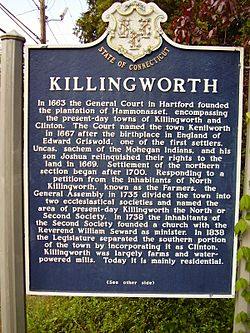 Killingworth ct historical town sign1
