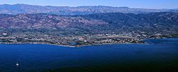 Aerial photo of the Goleta area from offshore.