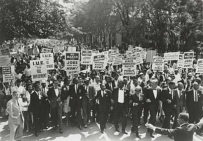 March on Washington for Jobs and Freedom, Martin Luther King, Jr. and Joachim Prinz 1963