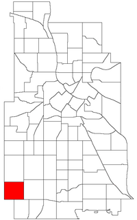 Location of Fulton within the U.S. city of Minneapolis