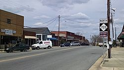 Central business district of Robbins