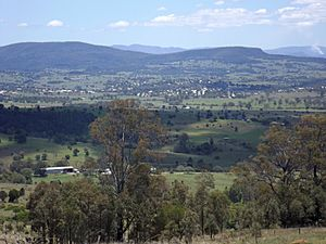 Township of Boonah from Allandale, Queensland